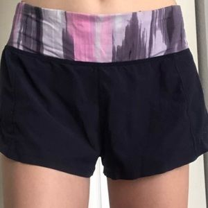 Lululemon Speed Up Cut-Out Design Shorts Navy with